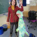 Auch die Lehrkräfte kamen verkleidet und mussten sich vor einem Drachen in Acht nehmen...