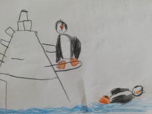 Ein Pinguin in Not...