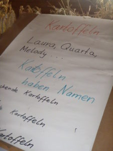 Die Kinder lernten dabei, dass es ganz unterschiedliche Kartoffeln gibt und diese auch Namen haben.